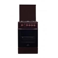 Плита газовая Greta 1470-00-16 коричневая с крышкой