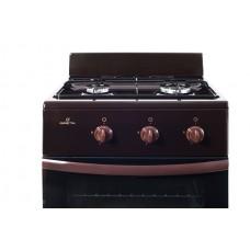 Плита Greta 1201-10 коричневая с щитком на 2 конфорки