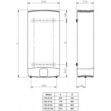 Водонагреватель Ariston ABS VELIS PW 100 плоский корпус на 100 литров
